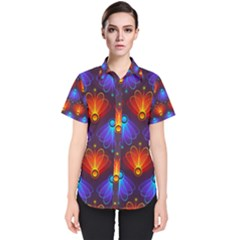 Background Colorful Abstract Women s Short Sleeve Shirt by HermanTelo
