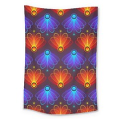 Background Colorful Abstract Large Tapestry by HermanTelo
