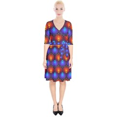 Background Colorful Abstract Wrap Up Cocktail Dress