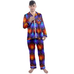 Background Colorful Abstract Men s Satin Pajamas Long Pants Set by HermanTelo