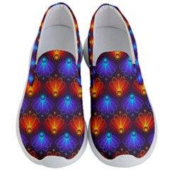 Background Colorful Abstract Men s Lightweight Slip Ons by HermanTelo