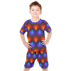 Background Colorful Abstract Kids  Tee And Shorts Set by HermanTelo