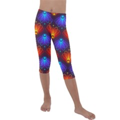 Background Colorful Abstract Kids  Lightweight Velour Capri Leggings  by HermanTelo