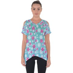 Background Frozen Fever Cut Out Side Drop Tee