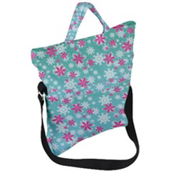 Background Frozen Fever Fold Over Handle Tote Bag