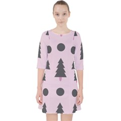 Christmas Tree Fir Den Pocket Dress