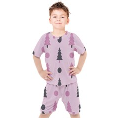Christmas Tree Fir Den Kids  Tee And Shorts Set by HermanTelo