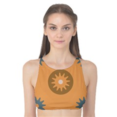 Flowers Screws Rounds Circle Tank Bikini Top
