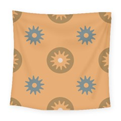 Flowers Screws Rounds Circle Square Tapestry (large) by HermanTelo
