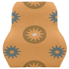 Flowers Screws Rounds Circle Car Seat Back Cushion