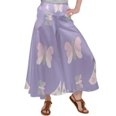 Butterfly Butterflies Merry Girls Satin Palazzo Pants by HermanTelo