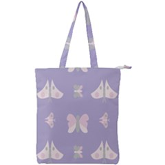 Butterfly Butterflies Merry Girls Double Zip Up Tote Bag