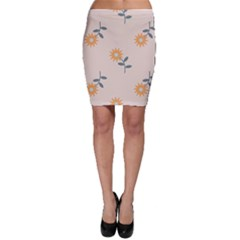 Flowers Continuous Pattern Nature Bodycon Skirt by HermanTelo