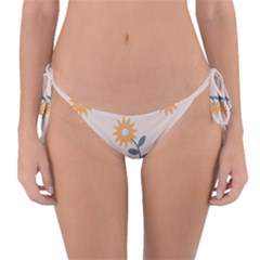 Flowers Continuous Pattern Nature Reversible Bikini Bottom by HermanTelo