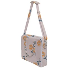 Flowers Continuous Pattern Nature Cross Body Office Bag