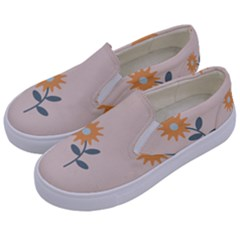 Flowers Continuous Pattern Nature Kids  Canvas Slip Ons by HermanTelo