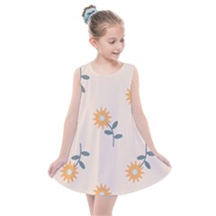 Flowers Continuous Pattern Nature Kids  Summer Dress by HermanTelo