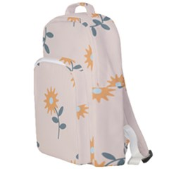 Flowers Continuous Pattern Nature Double Compartment Backpack
