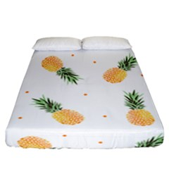 Pineapples Pattern Fitted Sheet (california King Size) by goljakoff