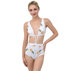 Pineapples Pattern Tied Up Two Piece Swimsuit by goljakoff