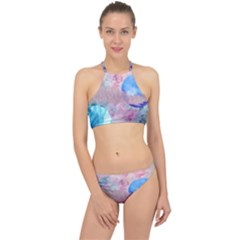 Abstract Clouds And Moon Racer Front Bikini Set