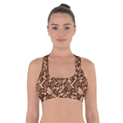 Modern Camouflage Pattern Cross Back Sports Bra by tarastyle