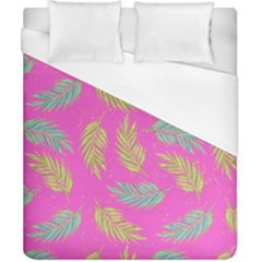 Neon Tropical Flowers Pattern Duvet Cover (california King Size) by tarastyle