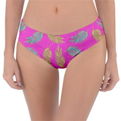 Neon Tropical Flowers Pattern Reversible Classic Bikini Bottoms by tarastyle