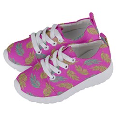 Neon Tropical Flowers Pattern Kids  Lightweight Sports Shoes by tarastyle