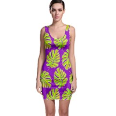 Neon Tropical Flowers Pattern Bodycon Dress by tarastyle