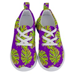 Neon Tropical Flowers Pattern Running Shoes by tarastyle