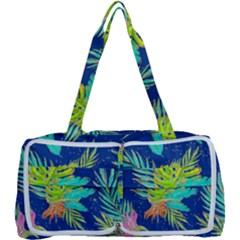 Neon Tropical Flowers Pattern Multi Function Bag by tarastyle