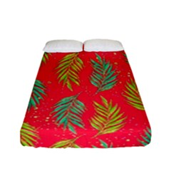 Neon Tropical Flowers Pattern Fitted Sheet (full/ Double Size) by tarastyle