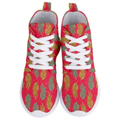 Neon Tropical Flowers Pattern Women s Lightweight High Top Sneakers by tarastyle