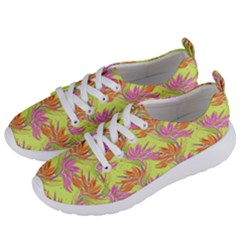 Neon Tropical Flowers Pattern Women s Lightweight Sports Shoes by tarastyle