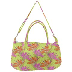 Neon Tropical Flowers Pattern Removal Strap Handbag