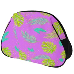 Neon Tropical Flowers Pattern Full Print Accessory Pouch (big) by tarastyle
