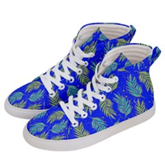 Neon Tropical Flowers Pattern Men s Hi Top Skate Sneakers by tarastyle