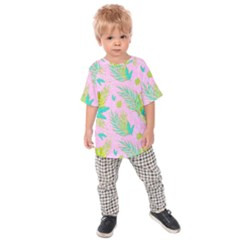 Neon Tropical Flowers Pattern Kids  Raglan Tee by tarastyle