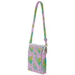 Neon Tropical Flowers Pattern Multi Function Travel Bag by tarastyle