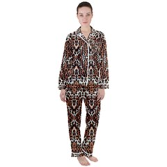 Animal Satin Long Sleeve Pyjamas Set
