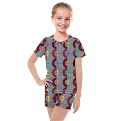 Zappwaits Retro 14 Kids  Mesh Tee And Shorts Set by zappwaits
