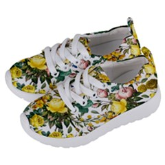 Elegant Vintage Flowers Pattern  Kids  Lightweight Sports Shoes by tarastyle