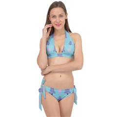 Christmas Bauble Tie It Up Bikini Set