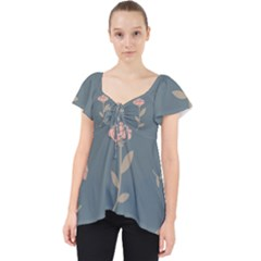 Florets Rose Flower Lace Front Dolly Top