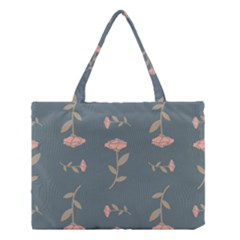 Florets Rose Flower Medium Tote Bag