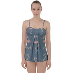 Florets Rose Flower Babydoll Tankini Set