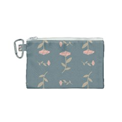 Florets Rose Flower Canvas Cosmetic Bag (small)