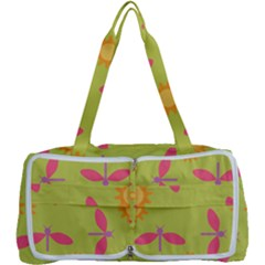 Dragonfly Sun Flower Seamlessly Multi Function Bag
