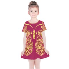 Butterfly Insect Bug Decoration Kids  Simple Cotton Dress